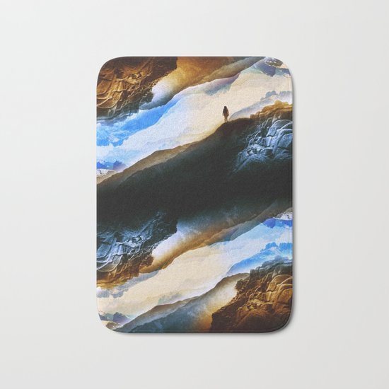 Vision of fire and ice Bath Mat
