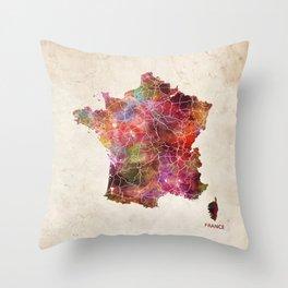 France map Throw Pillow