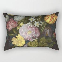Ambrosius Bosschaert The Elder - Flowers In A Glass Vase Rectangular Pillow