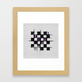 Chessboard and Amethyst  Chess Pieces composition Framed Art Print