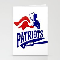 patriots Stationery Cards featuring Patriots Logo 2 by Happy Positivity