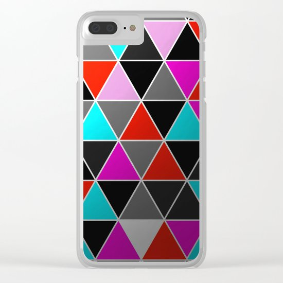 Industrial Triangles Clear iPhone Case