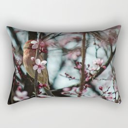 Peek-A-Boo - Spring Finch Rectangular Pillow