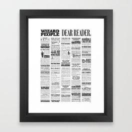 Wizard People, Dear Reader Newspaper Print Framed Art Print