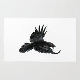 Black Crow Red Eyes Rug