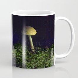 Solitary Mushroom in the Moonlight Coffee Mug