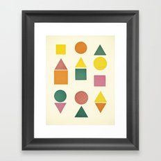 Shape Sorter Framed Art Print