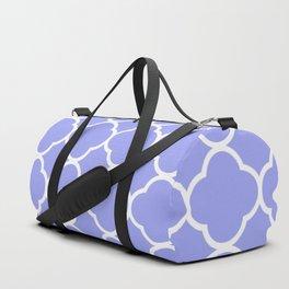 Purple Quatrefoil Duffle Bag