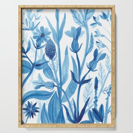Blue Wildflowers Serving Tray