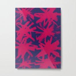 pink brushstrokes Metal Print