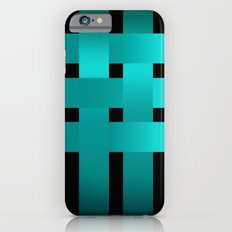 Abstraction .Weave turquoise satin ribbons . Patchwork . iPhone 6s Slim Case