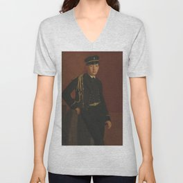 Edgar Degas - Achille De Gas in the Uniform of a cadet Unisex V-Neck