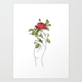 Flower in the Hand Art Print