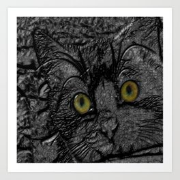 Metal cat Art Print