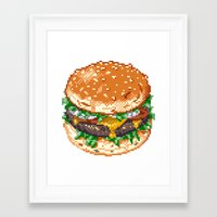 burger Framed Art Prints featuring Burger by noirlac