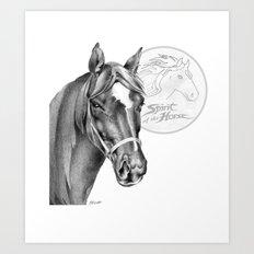 Barney the Hunter: Spirit of the Horse Art Print