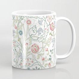 William Morris Pastel Floral Vine Pattern Coffee Mug