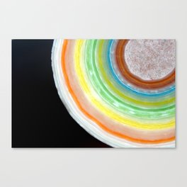Colorful Abstract Slice of Giant Jawbreaker Candy Canvas Print