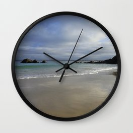 Winter Ocean Waves and Sky Cornwall Wall Clock
