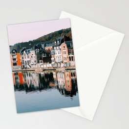VILLAGE - HOUSE - RIVER - REFLECTION - PHOTOGRAPHY Stationery Cards