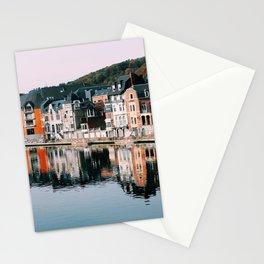 VILLAGE - HOUSE - RIVER - REFLECTION - PHOTOGRAPHY Stationery Cards