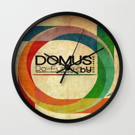 Domus Sessions Wall Clock