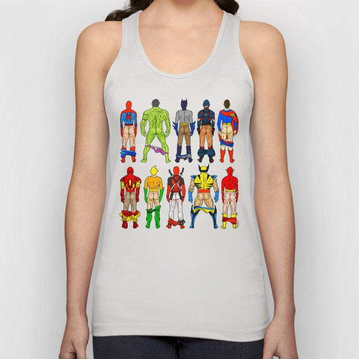 Superhero Butts Unisex Tanktop