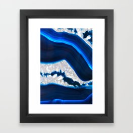Electrical Agate Framed Art Print