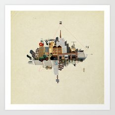 Collage City Mix 5 Art Print