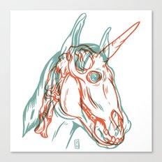 Unicorn Xray Canvas Print
