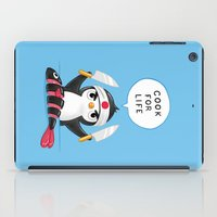 chef iPad Cases featuring Penguin Chef by Freeminds