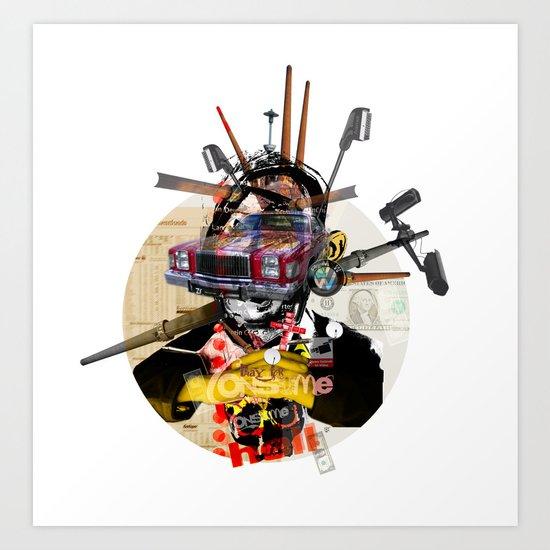 Modern Times - Consume Car (red) Art Print