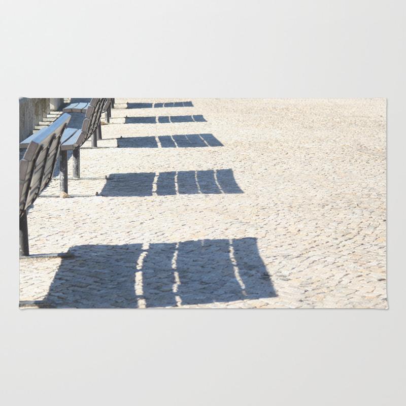 Shadows Of Empty Benches Rug by Annaki RUG7991183