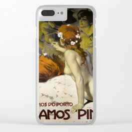 Vintage poster - Aramos Pinto Clear iPhone Case