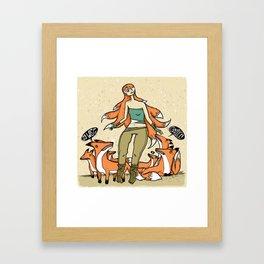 Wisest Kitsune Framed Art Print