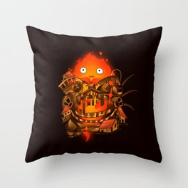 Pocket Calcifer Throw Pillow