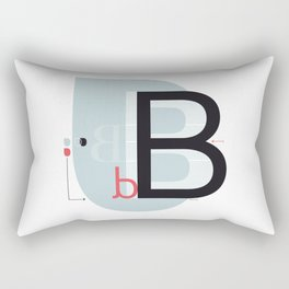 B b Rectangular Pillow