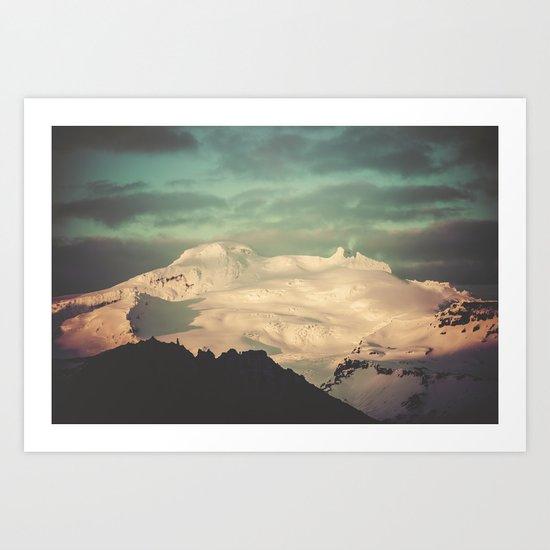 Sunset Mountains II Art Print