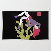 cactus Area & Throw Rugs featuring Cactus by Phantasmagoria
