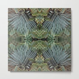 Agave Fractal Sedona Arizona Metal Print