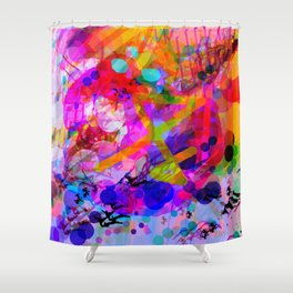 Butterfly's chemistry Shower Curtain