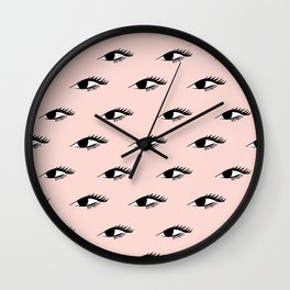 Lovely Lashes Blush Wall Clock