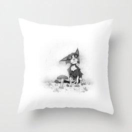 Wet cat Throw Pillow