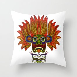 SRI LANKA DEVIL MASK 2 Throw Pillow
