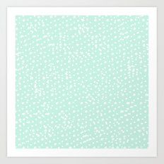 Dotted - Mint Art Print