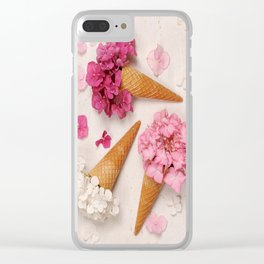 Floral ice creams Clear iPhone Case