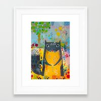squirrel Framed Art Prints featuring Squirrel by Rookery Design
