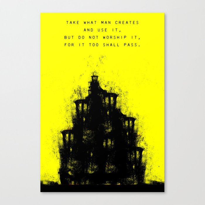 Do Not Worship. Canvas Print