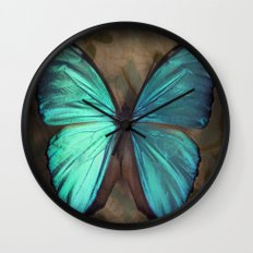 Vintage Butterfly Wall Clock