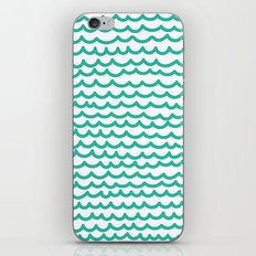 Squiggly Hand Drawn Lines in Mint  iPhone & iPod Skin